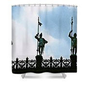 Three Armored Guards Shower Curtain