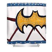 Three Bat Signals Shower Curtain