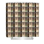 Three Bottles Collage Shower Curtain