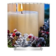 Three Burning Candles Shower Curtain