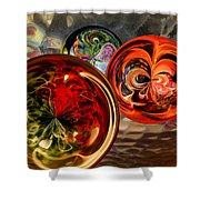 Three Colored Balls Shower Curtain
