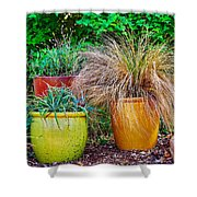 Three Colorful Pots Shower Curtain