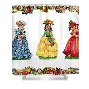 Three Cuties Shower Curtain