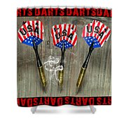 Three Darts Shower Curtain