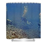 Three Divers In Hawaii Shower Curtain