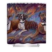 If Dogs Go To Heaven Shower Curtain