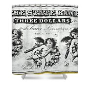 Three Dollar Bill, 1856 Shower Curtain