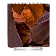 Three Faces In Sandstone Shower Curtain