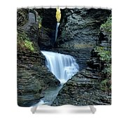 Three Falls In Watkins Glen Shower Curtain