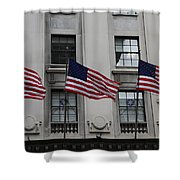 Three Flags Together On 5th Avenue Shower Curtain