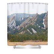 Three Flatirons Boulder Colorado Shower Curtain