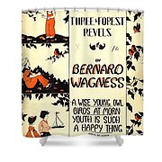 Three Forest Fevels Shower Curtain