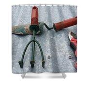 Three Garden Tools Shower Curtain