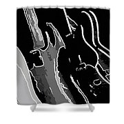 Three Guitars Shower Curtain