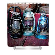 Three Kerosene Lamps Shower Curtain