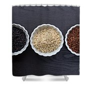 Three Kinds Of Rice Shower Curtain