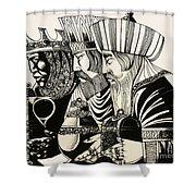 Three Kings Shower Curtain by Richard Hook