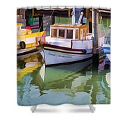 Three Little Boats Shower Curtain
