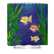 Three Little Fish Shower Curtain