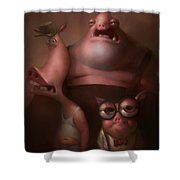Three Little Pigs Shower Curtain