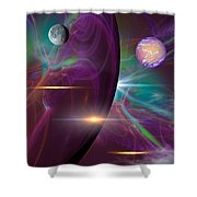 Three Lords A Leaping Shower Curtain