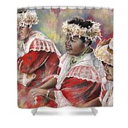 Three Mamas From Tahiti Shower Curtain