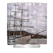 Three Mast Sail Boat Shower Curtain