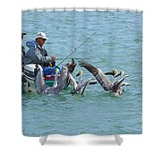 Three Men In A Boat Shower Curtain