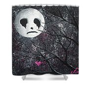 Three Moons Series - Man In The Moon Shower Curtain