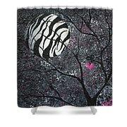 Three Moons Series - Zebra Moon Shower Curtain