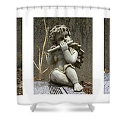 Three Musicians Triptych  Shower Curtain