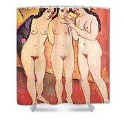 Three Naked Girls Shower Curtain