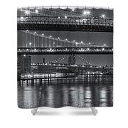 Three New York Bridges II Shower Curtain
