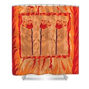 Three Of Wands Shower Curtain
