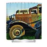 Three Old Fords Shower Curtain