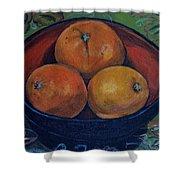 Three Oranges Shower Curtain