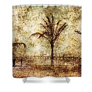 Three Palms 6 Shower Curtain
