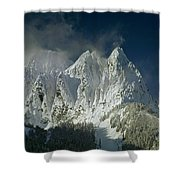 1m4503-three Peaks Of Mt. Index Shower Curtain