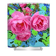 Three Pink Roses By M.l.d.moerings 2010 Shower Curtain