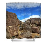 Three Rivers Petroglyphs 2 Shower Curtain