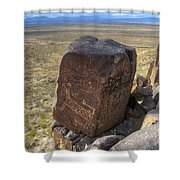 Three Rivers Petroglyphs 3 Shower Curtain