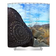 Three Rivers Petroglyphs 5 Shower Curtain