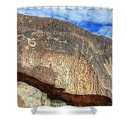 Three Rivers Petroglyphs 6 Shower Curtain