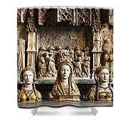 Three Saints In Marble Shower Curtain