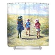 Three Sisters Beach Path Shower Curtain