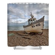 Three Sisters Fishing Boat Shower Curtain