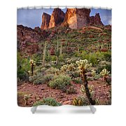 Three Sisters Sunset  Shower Curtain
