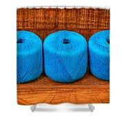 Three Skeins Of Knitting Yarn Shower Curtain