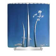 Three Soaring Spires Of Air Force Shower Curtain