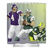 Three Stages Of Bret Favre Shower Curtain